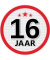 Leeftijd versiering sticker 16 jaar