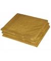 Gouden kleur papieren servetten 33 x 33 cm