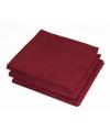 Bordeaux rode kleur papieren servetten 33 x 33 cm