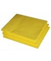 Gele papieren servetten 33 x 33 cm