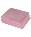 Lichtroze kleur papieren servetten 33 x 33 cm