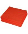 Oranje kleur papieren servetten 33 x 33 cm