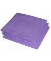 Paarse kleur papieren servetten 33 x 33 cm