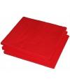 Rode kleur papieren servetten 33 x 33 cm