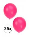 Fluor roze ballonnen 27 cm 25 st