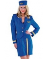 Stewardes pakje 3 delig blauw
