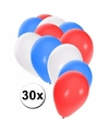 30 stuks party ballonnen in de kleuren van de VS