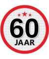 Leeftijd versiering sticker 60 jaar