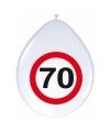 Stopbord  ballonnen 70 jaar