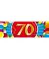 70 jaar sticker