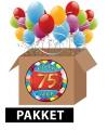 75 jarige feestversiering pakket