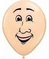 Ballon mannen gezicht 40 cm