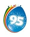 8 stuks ballonnen 95 jaar
