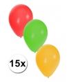 Decoratie ballonnen Carnaval 15 stuks