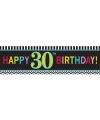 Plastic 30 jaar gevelvlag 165 cm