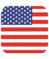Glas viltjes met Verenigde Staten vlag 15 st