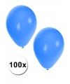 Blauwe carnaval ballonnen 100 st