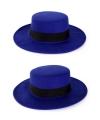 Blauwe Spaanse hoed met band
