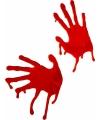 Hand afdrukken met bloed