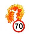 Verjaardag 70 jaar bloemenslinger