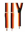Voordelige geel/rood/zwart bretels