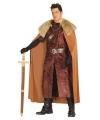 Middeleeuwse koning verkleedkleding bruin