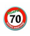 Stopbord button 70e verjaardag