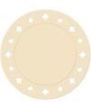 Creme placemats met sterren 33 cm