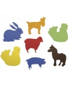 Bontgekleurde crepla diertjes zelfklevend 80 st