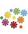 Bontgekleurde crepla bloemen zelfklevend 40 st