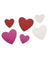 Bontgekleurde crepla hartjes zelfklevend100 st