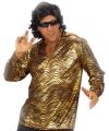 Disco shirt goud voor mannen