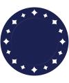 Donkerblauwe placemats met sterren 33 cm
