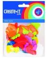 Gekleurde foam rubber letters 104 st