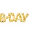 Folie ballon Birthday goud 66 cm