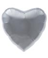 Folie ballon zilveren hart