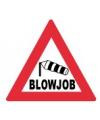 Fun stopbordje blowjob