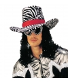 Funky cowboy hoed met zebra print
