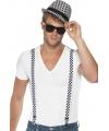 Set met geblokte hoed en bretels