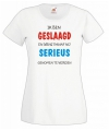 Geslaagd t-shirt wit voor dames