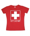 Rood Get Laid Kit girly t-shirt
