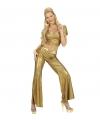 Disco broek goud dames