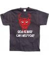 Zwart God Is Busy t-shirt