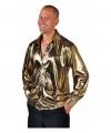 Metallic gouden blouse voor volwassenen