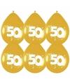 Huwelijk versiering Gouden ballonnen 50 jaar