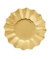 Feestartikelen diepe borden goud 21 cm