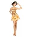 Gouden showgirl jurk met pailletten