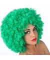 Groene afro feestpruiken