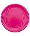 Barbecue bordjes fuchsia roze 29 cm
