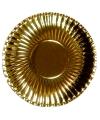 Barbecue bordjes goud 29 cm